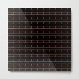Black Wall Metal Print