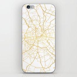 BERLIN GERMANY CITY STREET MAP ART iPhone Skin