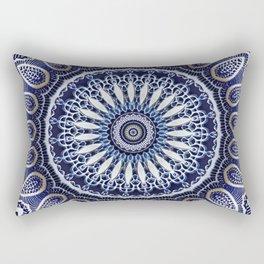 China Blue Rectangular Pillow
