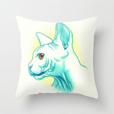 Sphynx cat #01 Throw Pillow