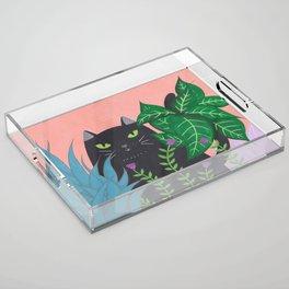 Jungle Cat Acrylic Tray