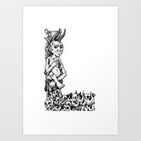 L is for Lucifer Art Print