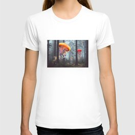 ElectricJellyfish Worlds in a Forest T-shirt