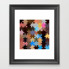 Another Puzzle Framed Art Print