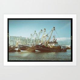 Brixham Trawlerled  Art Print