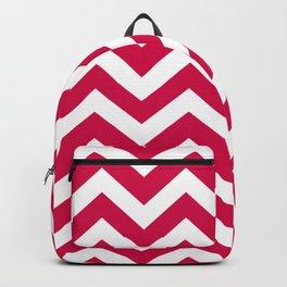 Spanish carmine - fuchsia color - Zigzag Chevron Pattern Backpack