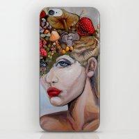 alice in wonderland iPhone & iPod Skins featuring Wonderland by HeatherIRELANDArtz