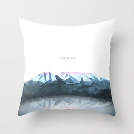 sleeping lady Throw Pillow