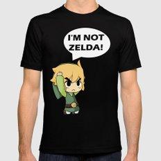 I'm not Zelda! (link from legend of zelda) Mens Fitted Tee Black SMALL