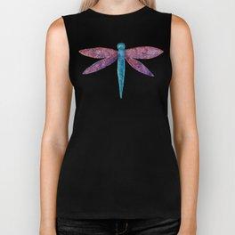 watercolour dragonfly Biker Tank