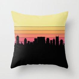 Nashville Skyline Throw Pillow