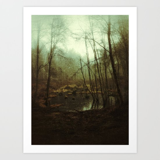 SWAMPY FOREST (everyday 01.01.17) Art Print