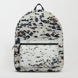 Shells on the beach, coastal photography  Backpack
