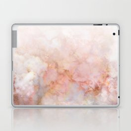Beautiful Pink and Gold Ombre marble under snow Laptop & iPad Skin