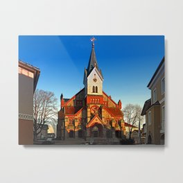The village church of Aigen II | architectural photography Metal Print