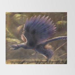Microraptor Gui Restored Throw Blanket