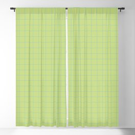 Green with Blue Lines Blackout Curtain