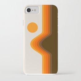 Golden Horizon Diptych - Left Side iPhone Case