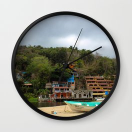 Dreamy Mexican Beach Day Wall Clock