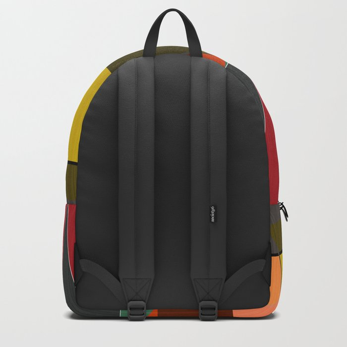 Abstract pattern . Mountains. Backpack