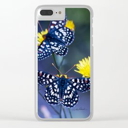 The Checkerspot Couple Clear iPhone Case