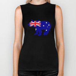 Australian Flag - Bear Cub Biker Tank