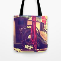 boat Tote Bags featuring boat by gzm_guvenc