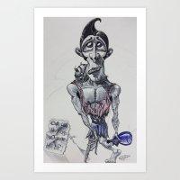 Reggie the Wash-Up Art Print