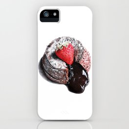 Lava cake with strawberry  iPhone Case