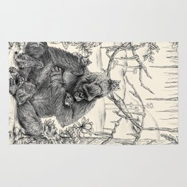 Koko Love Graphite Drawing Rug
