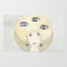 See thoughts with different eyes Rug