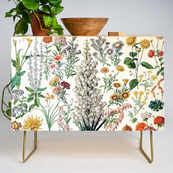 Adolphe Millot - Fleurs B - French vintage poster Credenza