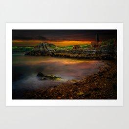 Porth Wen Brickworks Sunset Art Print