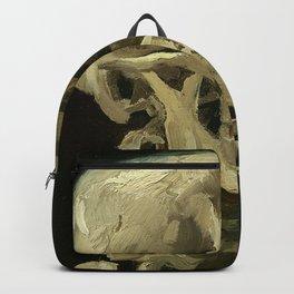 Skeleton with Burning Cigarette Backpack