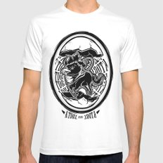 Abraxas White Mens Fitted Tee MEDIUM
