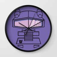 transformers Wall Clocks featuring Transformers - Shockwave by CaptainLaserBeam