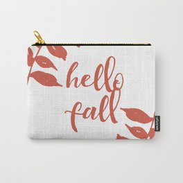 Hello Fall- Orange Wreath Carry-All Pouch