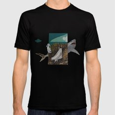 shark Mens Fitted Tee MEDIUM Black