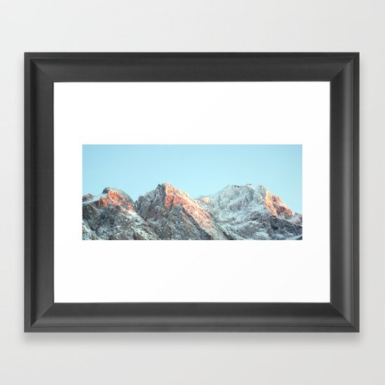 zugspitze mountain panorama, germany. Framed Art Print