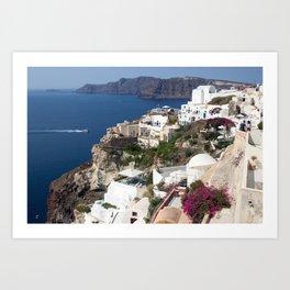 Santorini Blues and Whites Art Print