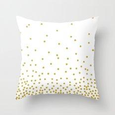 Golden Confetti Throw Pillow