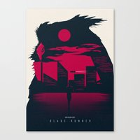 blade runner Canvas Prints featuring Blade Runner by Inno Theme
