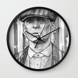 Tommy Shelby, Peaky Blinders by Nicky Anthony Wall Clock
