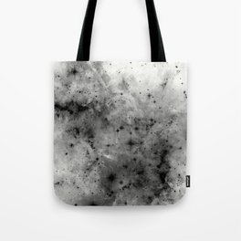Space Without Colour - Black And White Painting Tote Bag