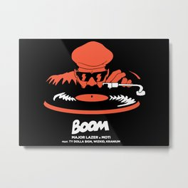 boom major lazer Metal Print