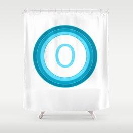 Blue letter O Shower Curtain
