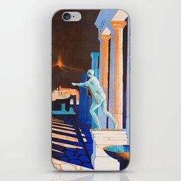 Pompei at Night - Vintage German Travel Ad iPhone Skin