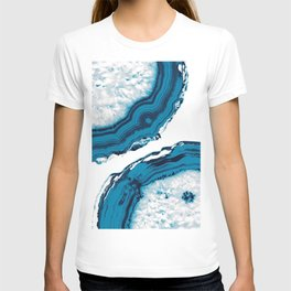 Blue Agate #2 #gem #decor #art #society6 T-shirt
