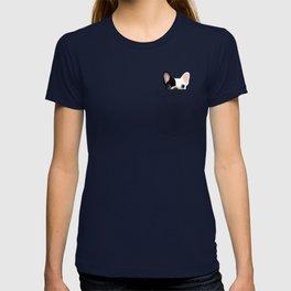 Pocket French Bulldog - Pied T-shirt