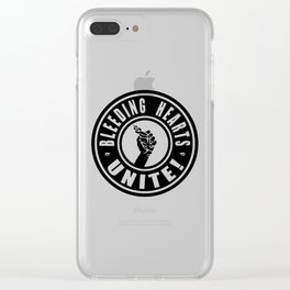 BLEEDING HEARTS UNITE! (negative) Clear iPhone Case
